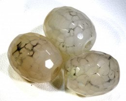 60 CTS WEB AGATE DRILLED NATURAL 3 PC NP-250