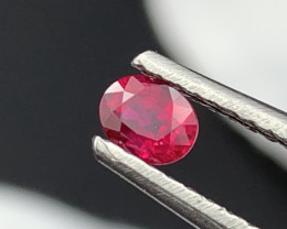 """""""NR""""AAA Rare Pigeon Blood Color Natural Ruby Unheated/Untreated 0.50cts"""