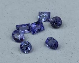 """""""NR""""AAA Grade Natural Tanzanite 1.70 Carats 7 pieces"""
