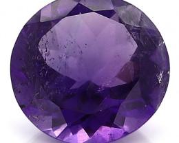 9.40 Carat Round Amethyst: Deep Rich Purple