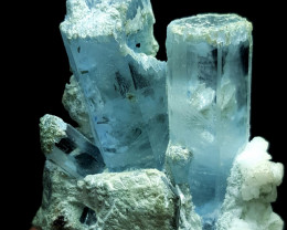 Amazing Natural blue color Damage free gemmy Aquamarine with lovely feldspa