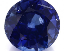 RARE - 0.50 Carat Round Sapphire: Royal Blue