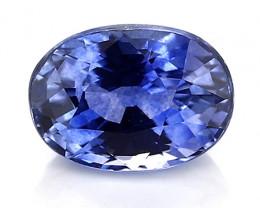 1.30 Carat Oval Blue Sapphire: Rich Blue