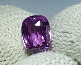 NO HEAT 1.08 CTS CERTIFIED NATURAL STUNNING VIOLET SAPPHIRE SRI LANKA