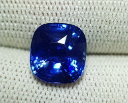 NO HEAT TOP QUALITY LOTUS CERTIFIED 5.01 CTS CORNFLOWER BLUE SAPPHIRE