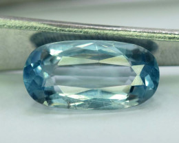 3.50 Carats Oval Cut Natural Top Grade Color Aquamarine Gemstone from pakis