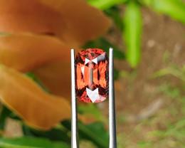 10.21 cts Reddish orange zircon Sri Lanka.