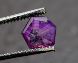 Rarest 1.80 Carats Attractive Dark Purple Color Natural Kashmir Sapphire Tr