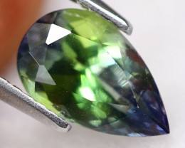 2.00ct Natural Greenish Violet Blue Tanzanite Pear Cut Lot P223