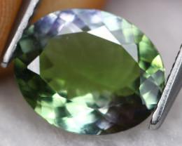 2.22ct Natural Greenish Violet Blue Tanzanite Oval Cut Lot GB1057