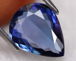 2.60ct Natural Greenish Violet Blue Tanzanite Pear Cut Lot GW