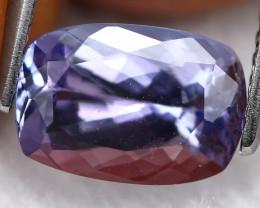 2.08ct Greenish Violet Blue Tanzanite Octagon Cut Lot GB1060