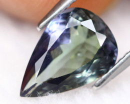 2.38ct Greenish Violet Blue Tanzanite Pear Cut Lot GB1062