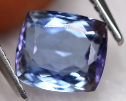 2.70ct Greenish Violet Blue Tanzanite Cushion Cut Lot P220