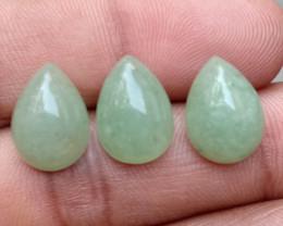 GREEN AVENTURINE TRIO NATURAL GEMSTONES VA3745