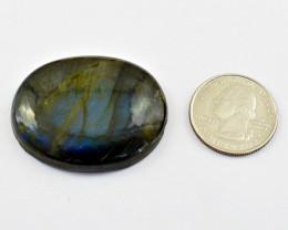 Genuine 115.00 Cts Blue Flash Labradorite Cabochon