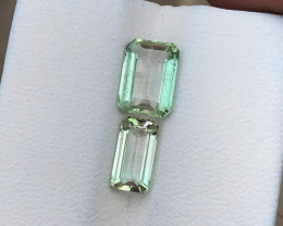 2.65 Ct Natural Greenish Transparent Tourmaline Ring Size Gemstones Parcels
