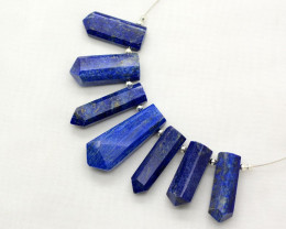 7 Pieces Amazing Lapis Lazuli Drilled Crystals@IM171