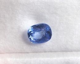 Unheat 1.37ct blue sapphire from Myanmar