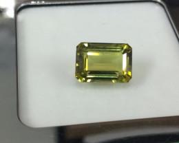 4.94 Carat Unheated Very Rare Yellow Green Tourmaline Gemstone