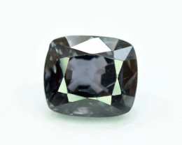 2.60 carats Top Grade Cushion Cut Loop Clean Natural Black And Dark purple