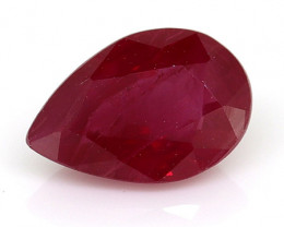 0.48 Carat Pear Shape Ruby: Rich Red