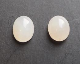 13.28ct Type A Jadeite Cabochon pair