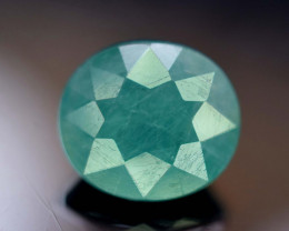 4.90 Carats Oval Cut Natural Rarest Pastel Mint Green Color GRANDIDERITE Ge