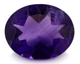 2.74 Carat Oval Amethyst: Deep Rich Purple