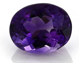 2.67 Carat Oval Amethyst: Deep Rich Purple