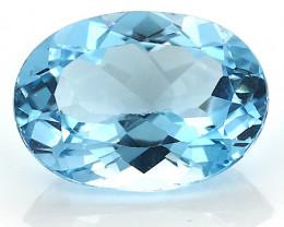 9.95 Carat Oval Topaz: Fine Blue