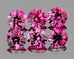 3.00 mm Round 6 pcs Pink Spinel [VVS]