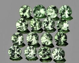 2.20 mm Round Machine Cut 16 pcs Green Sapphire [VVS]