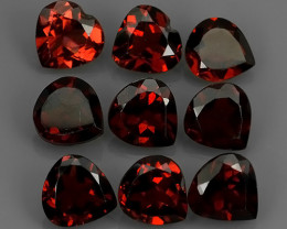 8.00 CTS~EXQUISITE NATURAL UNHEATED ORANGE RED COLOR RHODOLITE GARNET!!