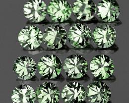 1.80 mm Round Machine Cut 30 pcs Green Sapphire [VVS]