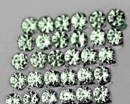1.30 mm Round 80 pcs 1.00ct Green Sapphire [VVS]