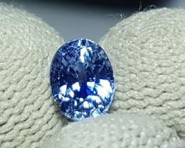 NO HEAT 1.35 CTS CERTIFIED NATURAL STUNNING CORNFLOWER BLUE SAPPHIRE SRI LA