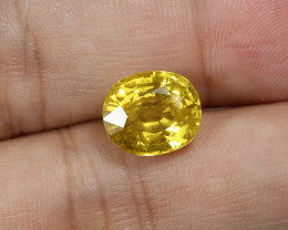 6.18ct Lab Certified Natural Yellow Sapphire