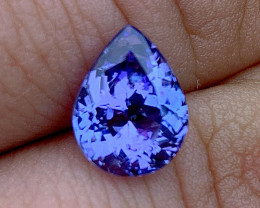 2.55 ct Tanzanite Pear - Loupe Clean - Nice color!!
