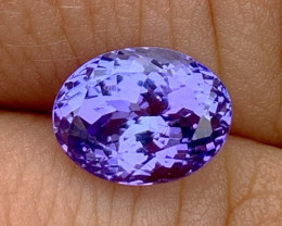 2.42 ct Tanzanite Oval - Loupe Clean - Bluish Violet!!