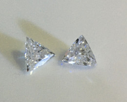 0.20 ctw pair trilliant diamonds E/G I2
