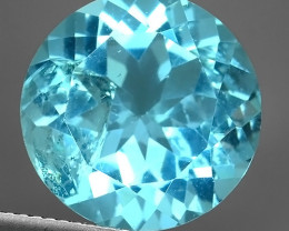 9.90 Cts swiss  Blue Topaz 15.00 mm round