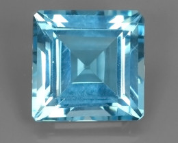 19.70 CTS NATURAL  SWISS BLUE TOPAZ SQUARE