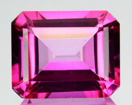 ~EMERALD CUT~ 5.06 Cts Candy Pink Natural Topaz 11x9 mm Octagon Brazil