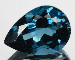 11.30 Cts Natural London Blue Topaz Pear Drop Cut Brazil