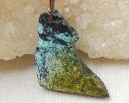 14.5cts Turquoise ,Handmade Gemstone ,Turquoise Nugget Pendant ,Lucky Penda