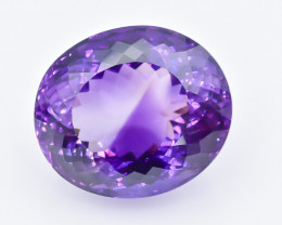 48.54 Crt Natural Amethyst Faceted GemstoneTop Grade