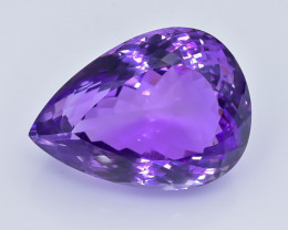 40.86 Crt Natural Amethyst Faceted GemstoneTop Grade