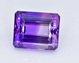 38.73 Crt Natural Amethyst Faceted GemstoneTop Grade