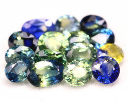 Sapphire 5.52Ct Natural Madagascar Parti Color Sapphire Lot B1811